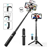 Mpow Bluetooth Selfie Stick-Stativ, Leichter Selfie Stick...