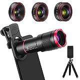 Handy Objektiv Kamera Linse Kit, 4 in 1 Universal 22X...