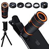 Distianert Handy Kamera Lens Kit, 6 in 1 Universal 12x Zoom...